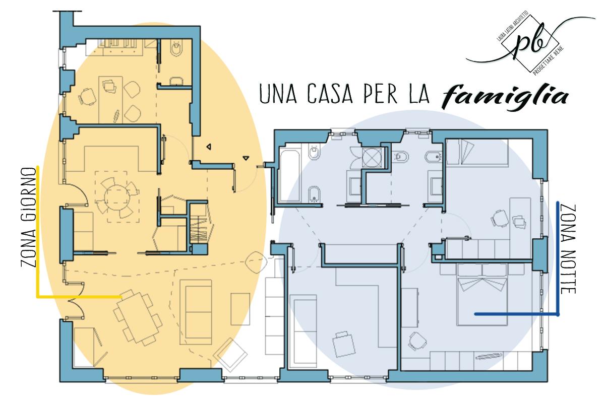 Progetto casa 120 mq cool arredamento casa da uac with - Planimetria casa 120 mq ...
